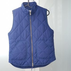 J.Crew Mercantile quilted women's puffer vest jacket eco-friendly.M.fall jacket